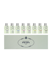 Prada 8-Piece Les Infusions Perfume Set for Women, Iris 8ml EDP, Iris Cedre 8ml EDP, Fleur D'oranger 8ml EDP, Amande 8ml EDP, Rose 8ml EDP, Mimosa 8ml EDP, Oeillet 8ml EDP, Vetiver 8ml EDP