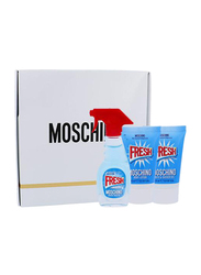 Moschino 3-Piece Fresh Couture Mini Gift Set for Women, 5ml EDT, 25ml Body Lotion, 25ml Bath & Shower Gel