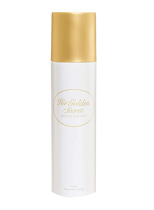 Antonio Banderas Her Golden Secret Deodorants Spray for Women, 150ml