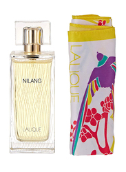Lalique 2-Piece Nilang Gift Set for Women, 100ml EDP, Foulard Scarf