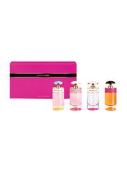 Prada 4-Piece Miniature Perfume Set for Women, Prada Candy 7ml EDP, Candy Florale 7ml EDT, Candy Kiss 7ml EDP, Sugar Pop 7ml EDP