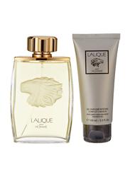 Lalique 2-Piece Pour Homme Lion Gift Set for Men, 125ml EDP, 100ml Shower Gel