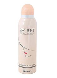 Rasasi Secret Deodorant Body Spray for Women, 200ml