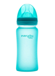 Everyday Baby Glass Heat Sensing Baby Bottle, 240ml, Turquoise