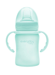 Everyday Baby Glass Sippy Cup Shatter Protected, 150ml, Mint Green