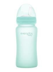 Everyday Baby Glass Straw Bottles, 240ml, Mint Green