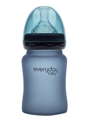 Everyday Baby Glass Heat Sensing Baby Bottle, 150ml, Blueberry