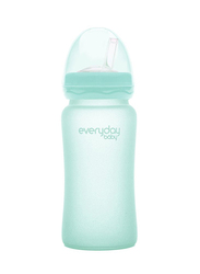Everyday Baby Glass Straw Bottle 240ml, Mint Green