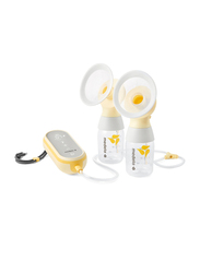 Medela Freestyle Flex Double Electric Breast Pump Bundle, Yellow/Clear