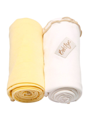 Bebitza Antibacterial Baby Wraps, 2 Pack, Yellow/Cream