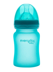Everyday Baby Glass Heat Sensing Baby Bottle, 150ml, Turquoise