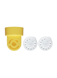 Medela 2 Valve and 2 Membranes Breast Pump Accessories Blister Pack, Yellow