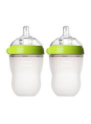 Comotomo Natural Feel Baby Bottle, Pack of 2, 250ml, Green