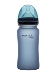 Everyday Baby Glass Heat Sensing Baby Bottle, 240ml, Blueberry