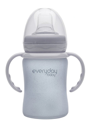 Everyday Baby Glass Sippy Cup Shatter Protected, 150ml, Quite Grey