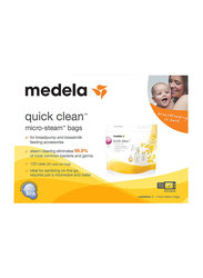 Medela Quick Clean Microwave Sterlization Bags, Yellow