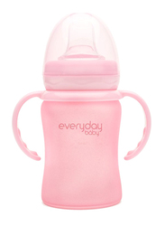 Everyday Baby Glass Sippy Cup Shatter Protected, 150ml, Rose Pink