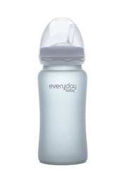 Everyday Baby Glass Straw Bottle 240ml, Quite Grey