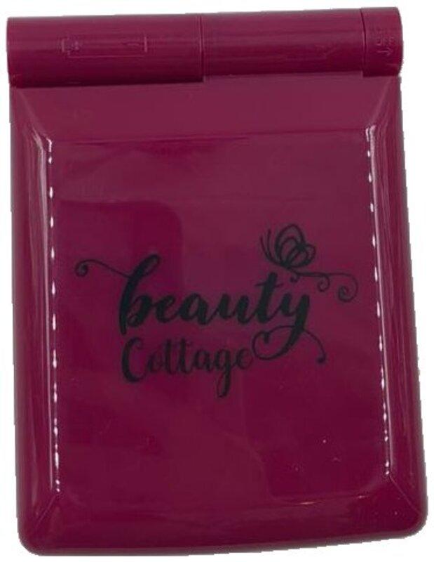 Beauty Cottage Led Lighted Pocket Makeup Mirror, Dark Red