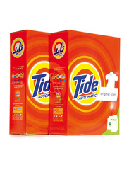 Tide Automatic Original Scent Laundry Powder Detergent, 2 Pieces x 2.5 Kg