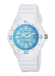 Casio Analog Watch for Women with Resin Band, Water Resistant, LRW-200H-2C, White-Blue