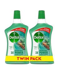 Dettol Pine Anti-Bacterial Floor Cleaner, 2 Bottles x 900ml