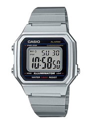 Casio Digital Watch for Men with Stainless Steel Band, Water Resistant, B650WD-1AEF, Silver