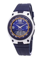 Casio Analog/Digital Quartz Watch for Men with Rubber Band, Water Resistant, AW-82-2AVDF, Blue