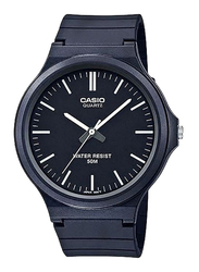 Casio Youth Analog Watch for Men with Resin Band, Water Resistant, MW-240-1EVDF, Black