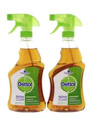 Dettol Anti-Bacterial Surface Disinfectant Spray, 2 Bottles x 500ml