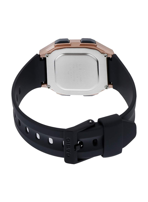 Casio Youth Digital Unisex Watch with Resin Band, Water Resistant, F-201WAM-5AVEF, Black-Pink