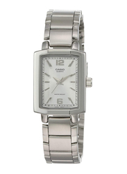 Casio Enticer Analog Watch for Women with Stainless Steel Band, Water Resistant, LTP-1233D-7ADF, Silver