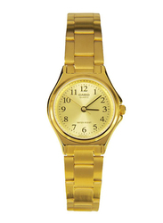 Casio Enticer Analog Quartz Watch for Women with Stainless Steel Band, Water Resistant, LTP-1130N-9BRDF, Gold
