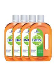 Dettol Anti-Bacterial Floor Cleaner, 4 Bottles x 750ml