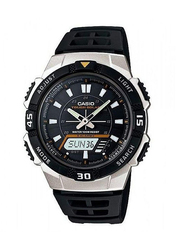 Casio Solar Analog/Digital Watch for Men with Resin Band, Water Resistant, AQS800W-1E, Black