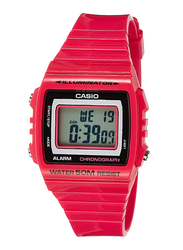 Casio Youth Digital Watch for Men with Resin Band, Water Resistant, W-215H-4AVDF, Pink-Black