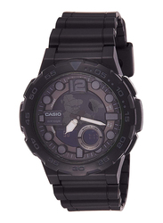 Casio Youth Series Analog/Digital Watch for Men with Resin Band, Water Resistant, AEQ-100W-1BVDF, Black