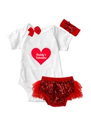 Valentine Heart Onesie & Tutu Set, White/Red