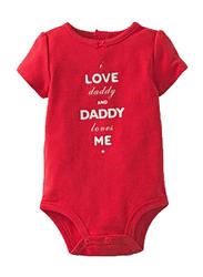 Valentine I love Daddy Onesie, Red