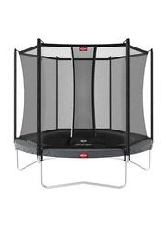 Berg Favorit 7 Feet Regular Trampoline with Safety Net Comfort, 200cm, Grey, Ages 5+