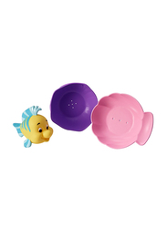 The First Year Little Mermaid Flounder Pour & Cup, 3 Pieces, Yellow/Purple/Green