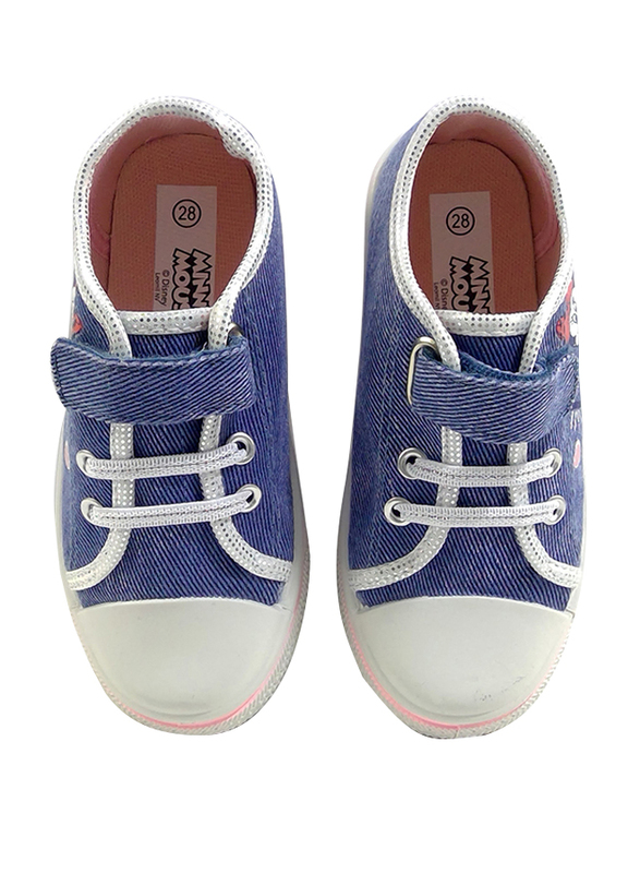 Disney Minnie Mouse Glitter Jeans Sneakers for Girls, 27 EU, Blue