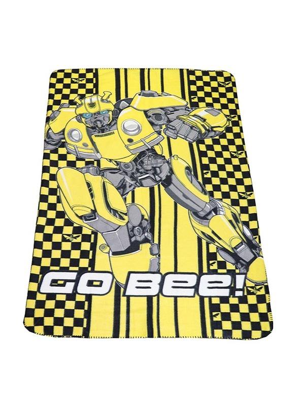 Hasbro Transformers Polar Fleece Lightweight Warm Blanket, 100 x 150cm, Yellow