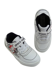 Marvel Spiderman Velcro with Lace Closures Sneakers for Boys, 29 EU, White