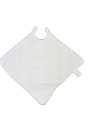 Babyworks Hands Free Hoodie Bamboo Towel for Toddlers, White