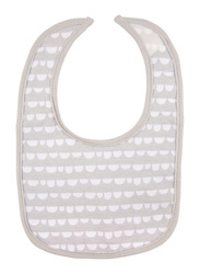 Playgro Baby Loves Playgro Bibs with PVC Bag, 2 Pieces, Scallop Grey