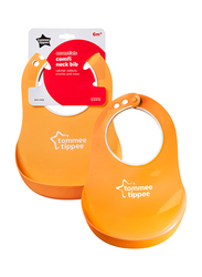 Tommee Tippee Essentials Comfi Neck Catch Bib Unisex, Orange