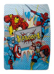 Marvel Marvel Comics Kaboom Kids Light Weight Flannel Blanket, 160 x 220cm, Blue