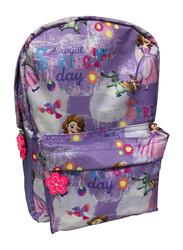 Disney Sofia A Royal Spring Day 13-Inch Trolly Bag for Girls, Pre School, Purple