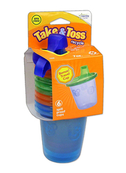 The First Years Take and Toss Spill-proof Sippy Cup, 7oz, 6-Pieces, Blue/Orange/Red/Yellow/Green